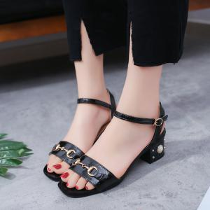 Ms Fashion Contracted Joker Thick with Comfortable Sandals -