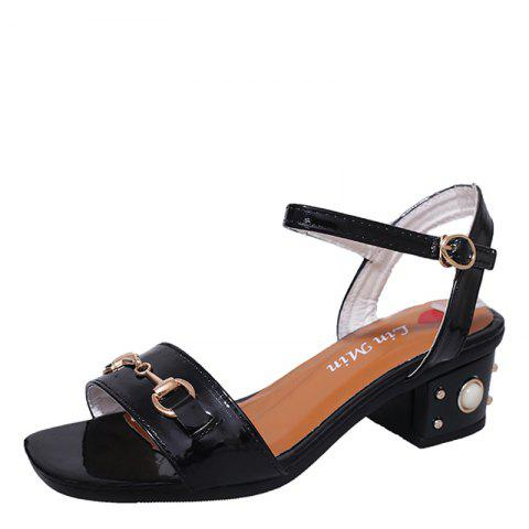 Shops Ms Fashion Contracted Joker Thick with Comfortable Sandals