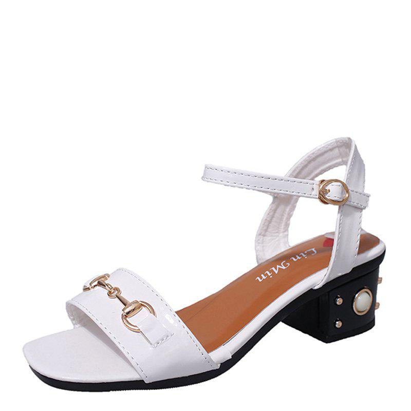 Shop Ms Fashion Contracted Joker Thick with Comfortable Sandals