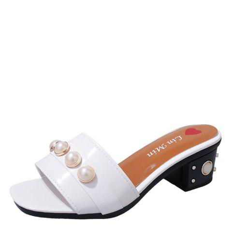 Latest Vintage Antiskid Fashion Pearl Wear Slippers