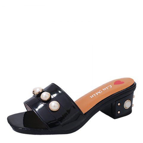 Discount Vintage Antiskid Fashion Pearl Wear Slippers