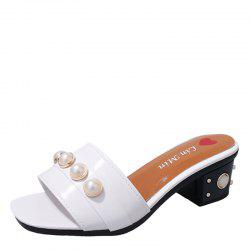 Vintage Antiskid Fashion Pearl Wear Slippers -