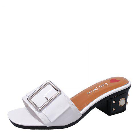 Trendy Summer New Belt Buckle Thick Fashion Female Sandals