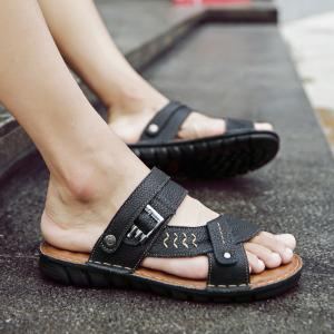 Men Sandals Shoes Leisure Casual Soft Sport Summer Beach Slippers -