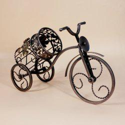 Fashion Decorative Wrought Iron Wine Rack Home Furnishing Retro Tricycles European Creative Gift Ornaments -