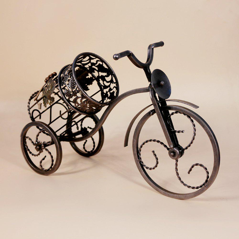 Sale Fashion Decorative Wrought Iron Wine Rack Home Furnishing Retro Tricycles European Creative Gift Ornaments