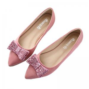 ... Women Fashion Bowknot Pointed Toe Flats Shoes ...