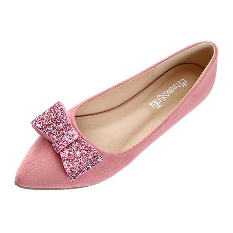 Женская мода Bowknot Pointed Toe Flats Shoes
