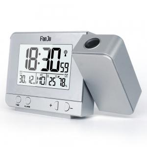 FanJu FJ3531 Projection Alarm Clock with Temperature and Time Projection / USB Charger/ Indoor Temperature and Humidity -