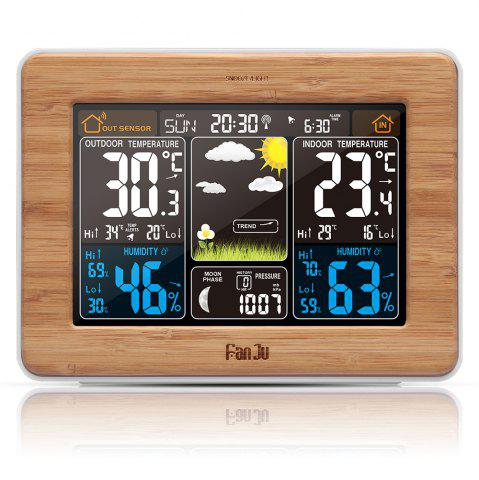 Latest FanJu FJ3365W Weather Station Color Forecast with Temperature / Humidity / Barometer / Alarm / Moon phase