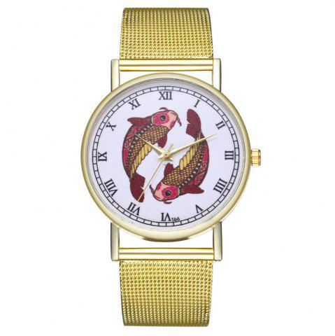 Chic ZhouLianFa T66 Trendy High-End Atmosphere Pisces Pattern Quartz Watch