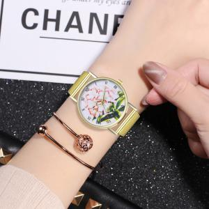 ZhouLianFa T78 Fashion High-End Cartoon Lily Pattern Quartz Watch -