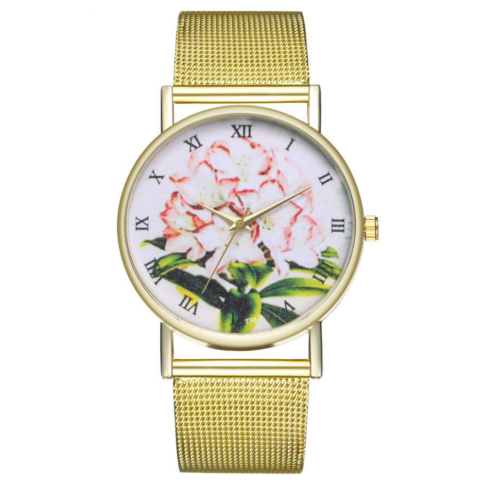 Unique ZhouLianFa T78 Fashion High-End Cartoon Lily Pattern Quartz Watch