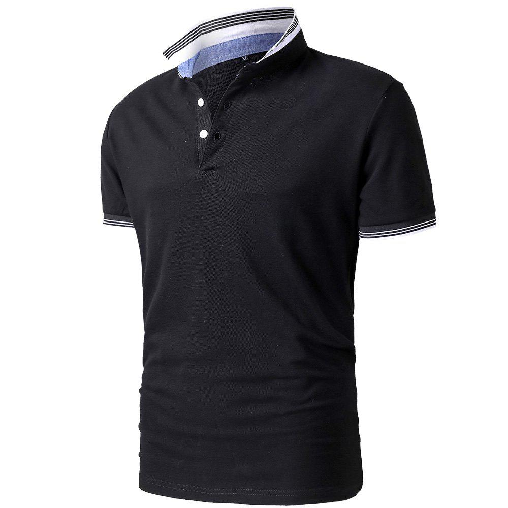 Online Men's Summer Short Sleeve Lapel Polo Shirt