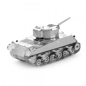 Creative Sherman Tank 3D Metal High-quality DIY Laser Cut Puzzles Jigsaw Model Toy -