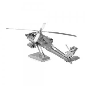 Creative Apache Helicopter 3D Metal High-quality DIY Laser Cut Puzzles Jigsaw Model Toy -