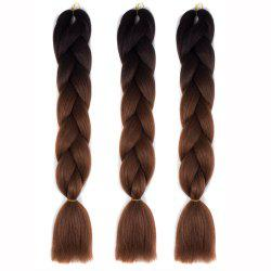 Silky Strands Ombre Synthetic Braiding Hair Jumbo Braids Hairstyles -