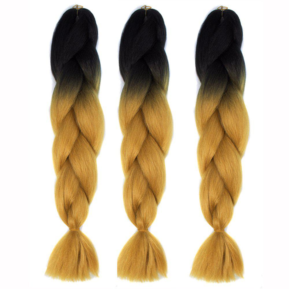 Latest Silky Strands Ombre Synthetic Braiding Hair Jumbo Braids Hairstyles