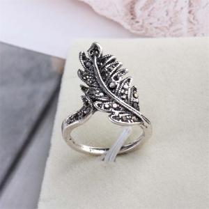 Jewelry Ring Restoring Ancient Ways Female Pop Leaves -