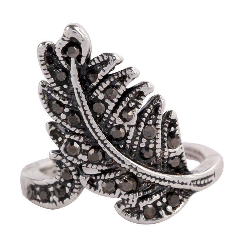 Hot Jewelry Ring Restoring Ancient Ways Female Pop Leaves