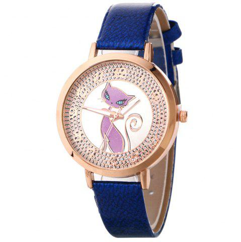Buy Simple Fox Pattern Belt Watch