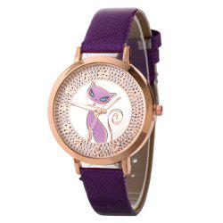 Simple Fox Pattern Belt Watch -