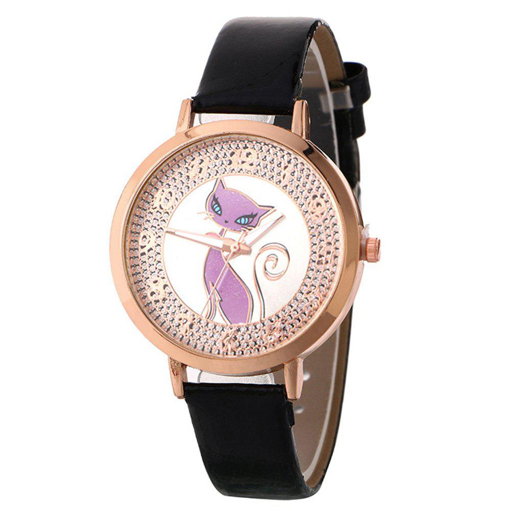 Sale Fox Pattern UV Color Changing Watch