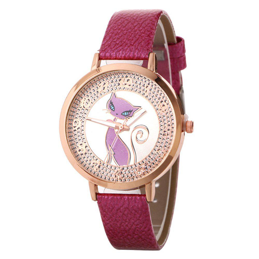 Shops Fox Pattern UV Color Changing Watch
