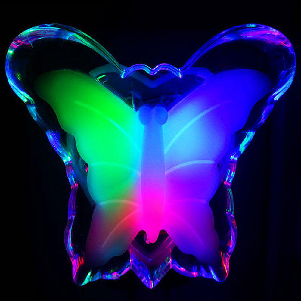 White Energy-saving Night Light Romantic Butterfly Lamp Socket Light ...