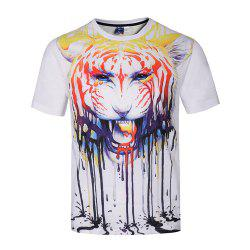 T-shirt imprimé graffiti Tiger 3D -