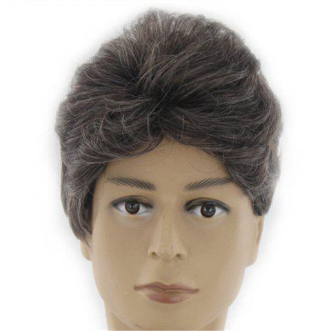 Chic Synthetic Wig for Men Male Hair Fleeciness Realistic