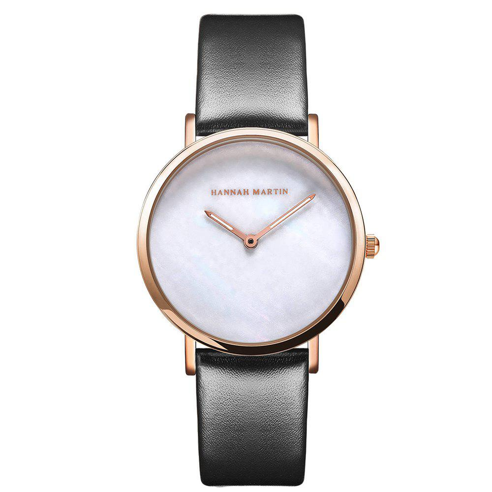 Outfit Hannah Martin Simple Leather Band Women Quartz Watch for Students