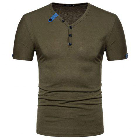 Outfits 2018 Spring and Autumn New Men's Casual Short Sleeve T-Shirt