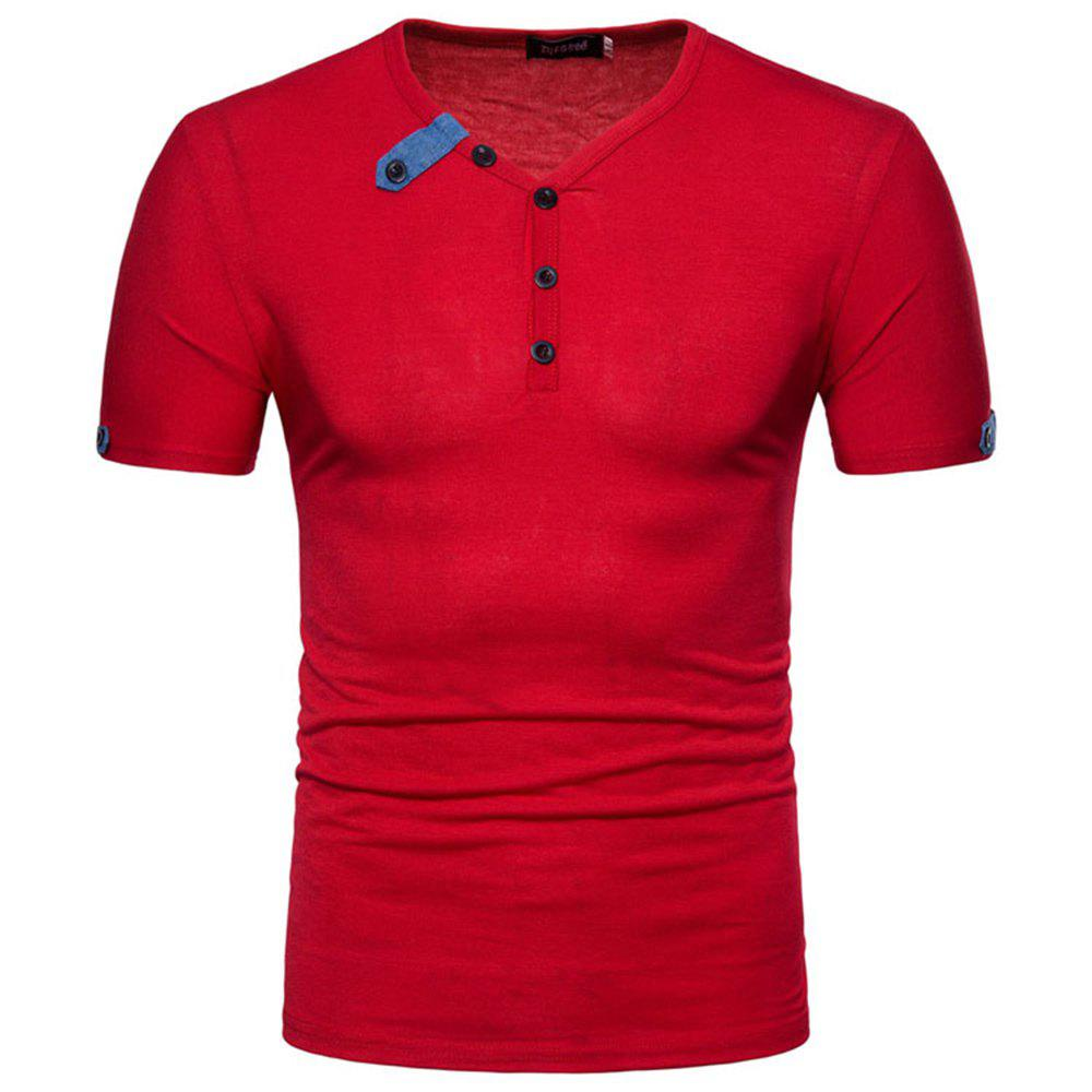 Shop 2018 Spring and Autumn New Men's Casual Short Sleeve T-Shirt