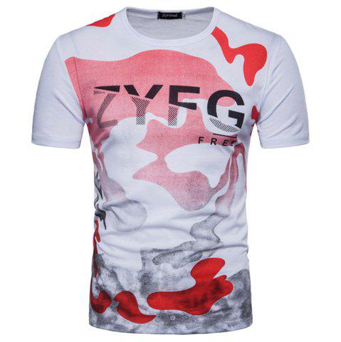 Discount 2018 New Men's Casual Camouflage Printed Short-Sleeved T-Shirt