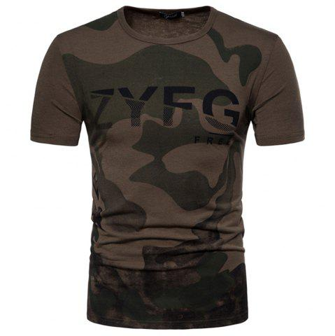 Best 2018 New Men's Casual Camouflage Printed Short-Sleeved T-Shirt