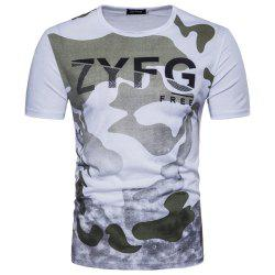2018 New Men's Casual Camouflage Printed Short-Sleeved T-Shirt -