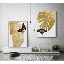 Canvas Inkjet Abstract Cute Simple Butterfly Painting Living Room Bedroom Restaurant Home Wall Art -