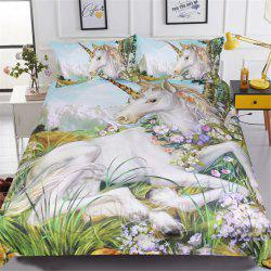 BeddingOutlet Unicorn Housse de Couette Twin Full Queen King 3 Pièces -