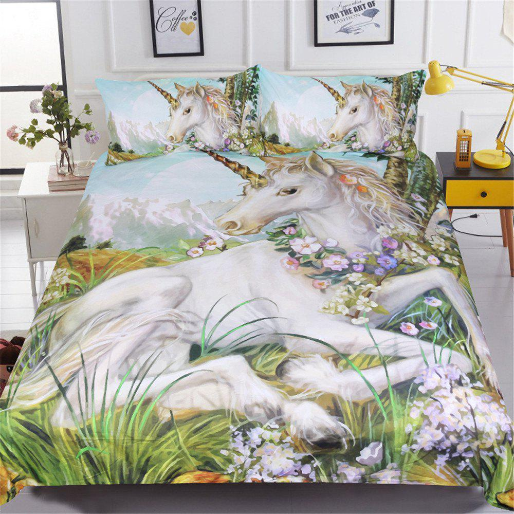 BeddingOutlet Unicorn Housse de Couette Twin Full Queen King 3 Pièces
