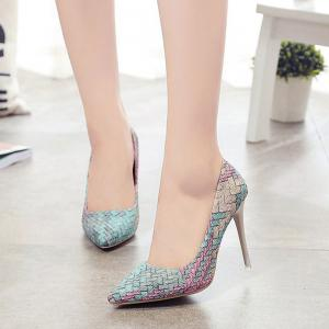 Spring and Summer New Pointed Elegant High-Heeled Shoes -