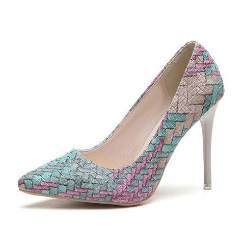 Shops Spring and Summer New Pointed Elegant High-Heeled Shoes