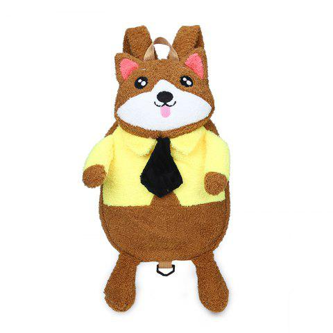 Chic Bear Backpack Cartoon Dolls Wind Hit Color Plush All-Match Tide Bag