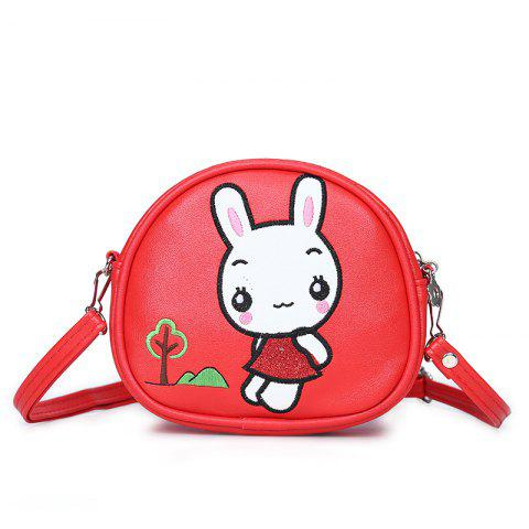 Shop Student Package Girl Cartoon Cute Rabbit Fashion Single Shoulder Slant Three Pocket Money Double  Bag