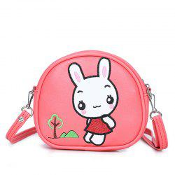 Student Package Girl Cartoon Cute Rabbit Fashion Single Shoulder Slant Three Pocket Money Double  Bag -