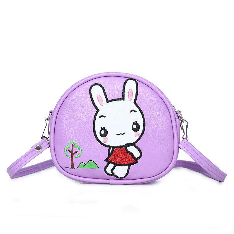 Outfit Student Package Girl Cartoon Cute Rabbit Fashion Single Shoulder Slant Three Pocket Money Double  Bag