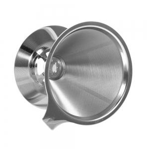 Overall Stainless Steel Double Layer Mesh Coffee Filter for Home Office -