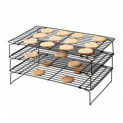 3 Tier Nonstick Stackable Grid Cooking Cake Baking Cooling Rack -