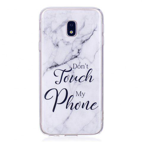 Unique Ultra Thin Black And White Mixed color Marble Stone Patterned Soft TPU Phone Case for Samsung Galaxy J3 2017 J330EU