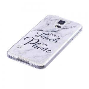 Ultra Thin Black And White Mixed color Marble Stone Patterned Soft TPU Phone Case for Samsung Galaxy S5 -